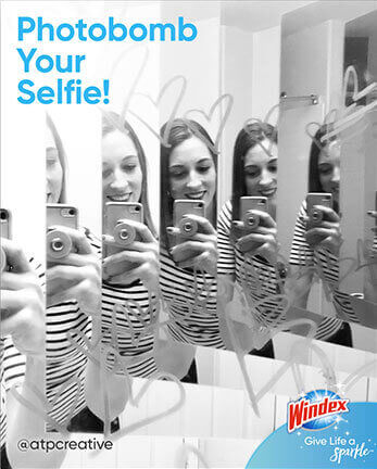 Windex Ajoutez une touche d'originalité à vos égoportraits