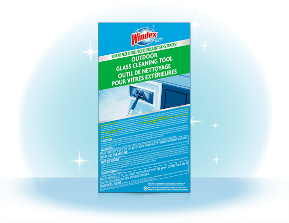 Windex® Outdoor All-in-One Glass Cleaning Tool CA Back